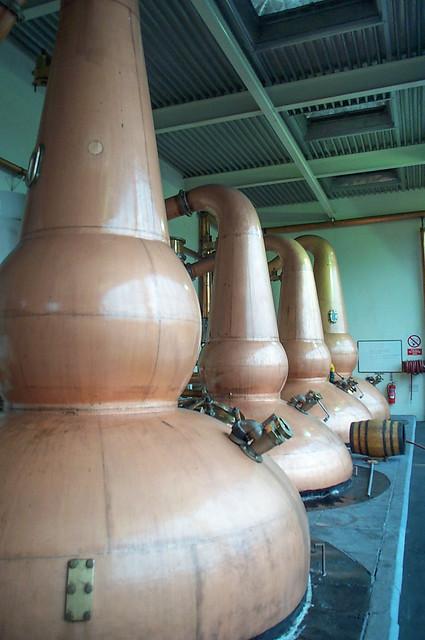 Glendronach Distillery spirit stills