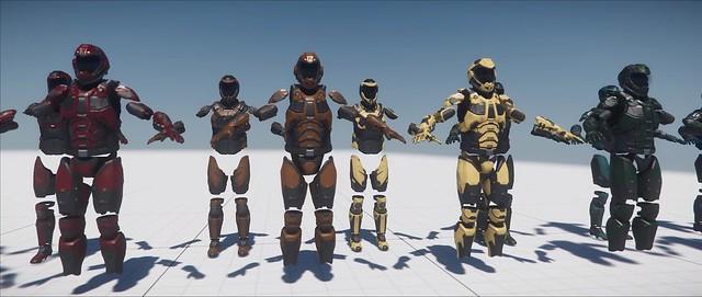 Star Citizen - Variantes de couleurs d'armures