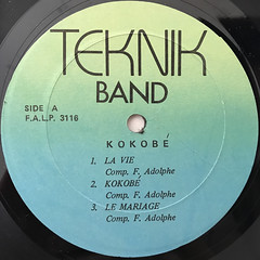 TEKNIK BAND:KOKOBE(LABEL SIDE-A)