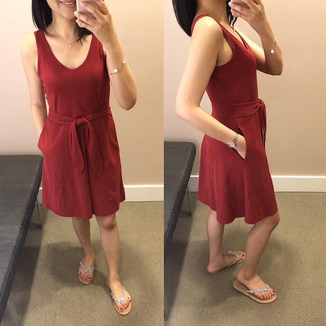 LOFT Tie Waist Pocket Dress, size XXSP