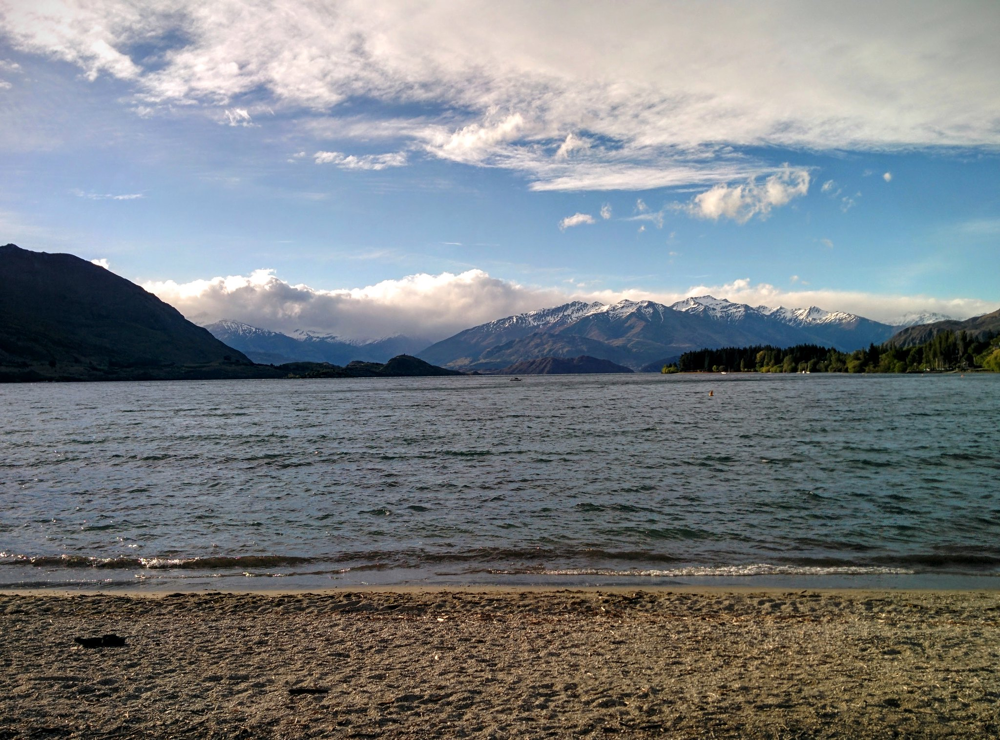 Mountains with Lake Wanaka in the foreground