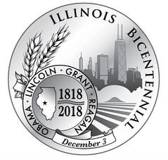 Illinois Bicentennial coin design