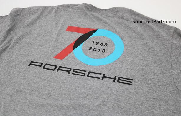 70 years porsche t-shirt back logo