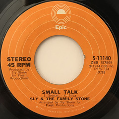SLY & THE FAMILY STONE:TIME FOR LIVIN'(LABEL SIDE-B)