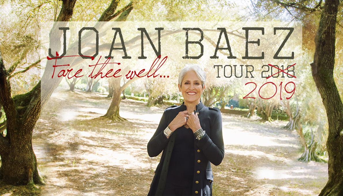 Joan Baez Fare Thee Well... Tour 2019