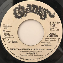 LATIMORE:THERE'S A RED-NECK IN THE SOUL BAND(LABEL SIDE-B)