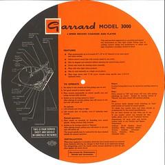 Garrard Model 3000 Instructions