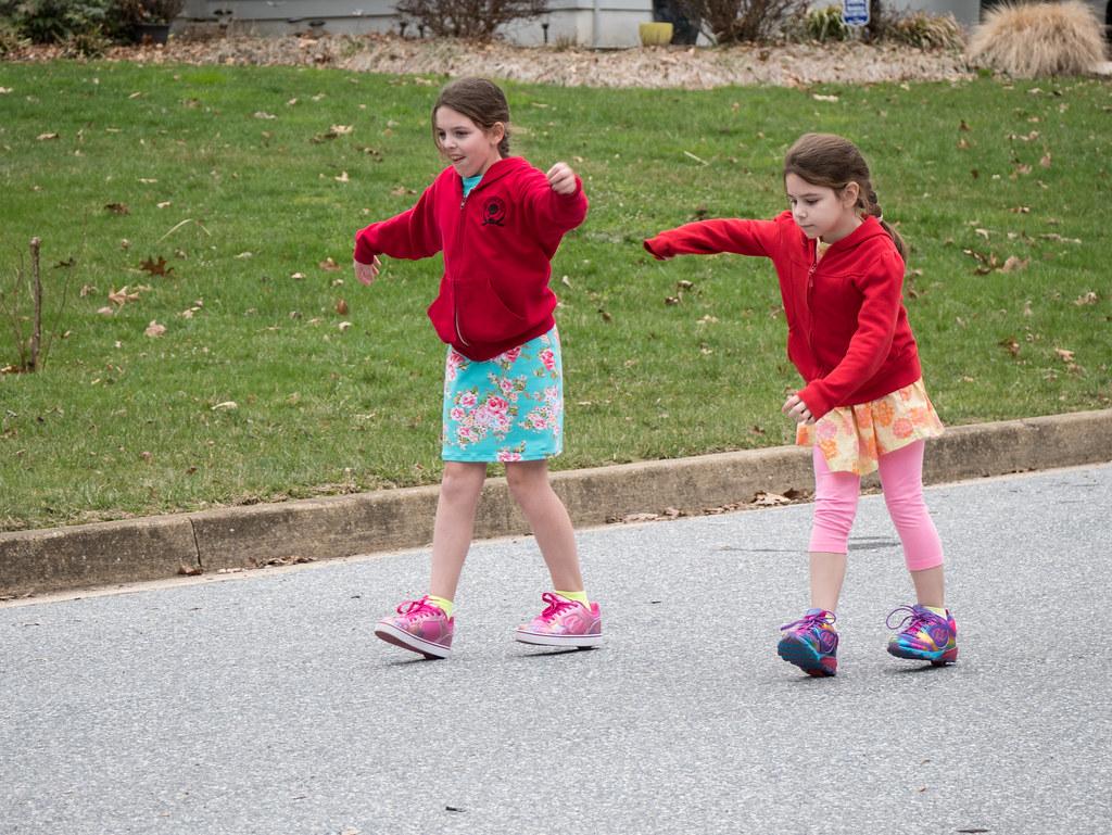 Sister skating