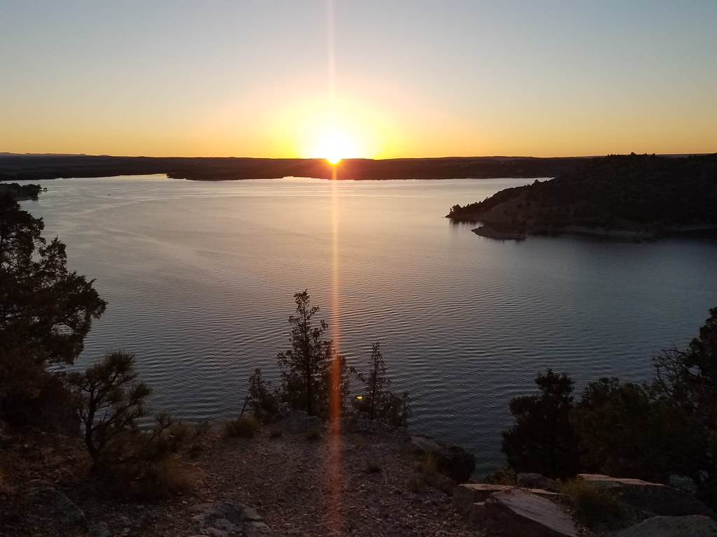 Sunset at Two Moon Campground, Glendo, Wyoming.