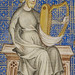 King David with Harp by Master of Jean de Mandeville, 1360-70