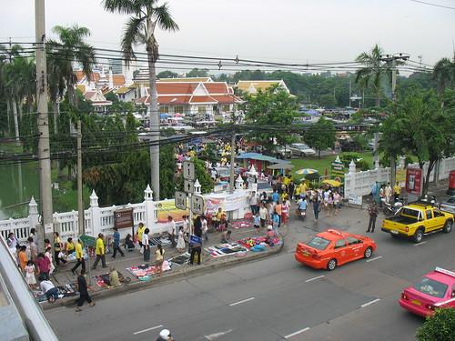 panaramic view wat prasit mahathat bangkhen bangkok thailand phahoyothin canon road