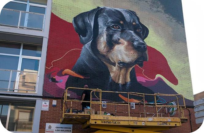 El arte urbano transforma el paisaje de Cartagena