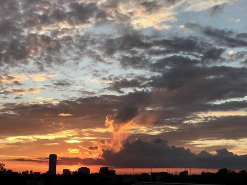 houston texas usa sunset sky weather dusk