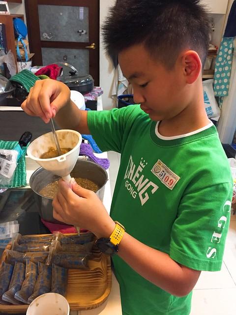 製作綠豆冰棒