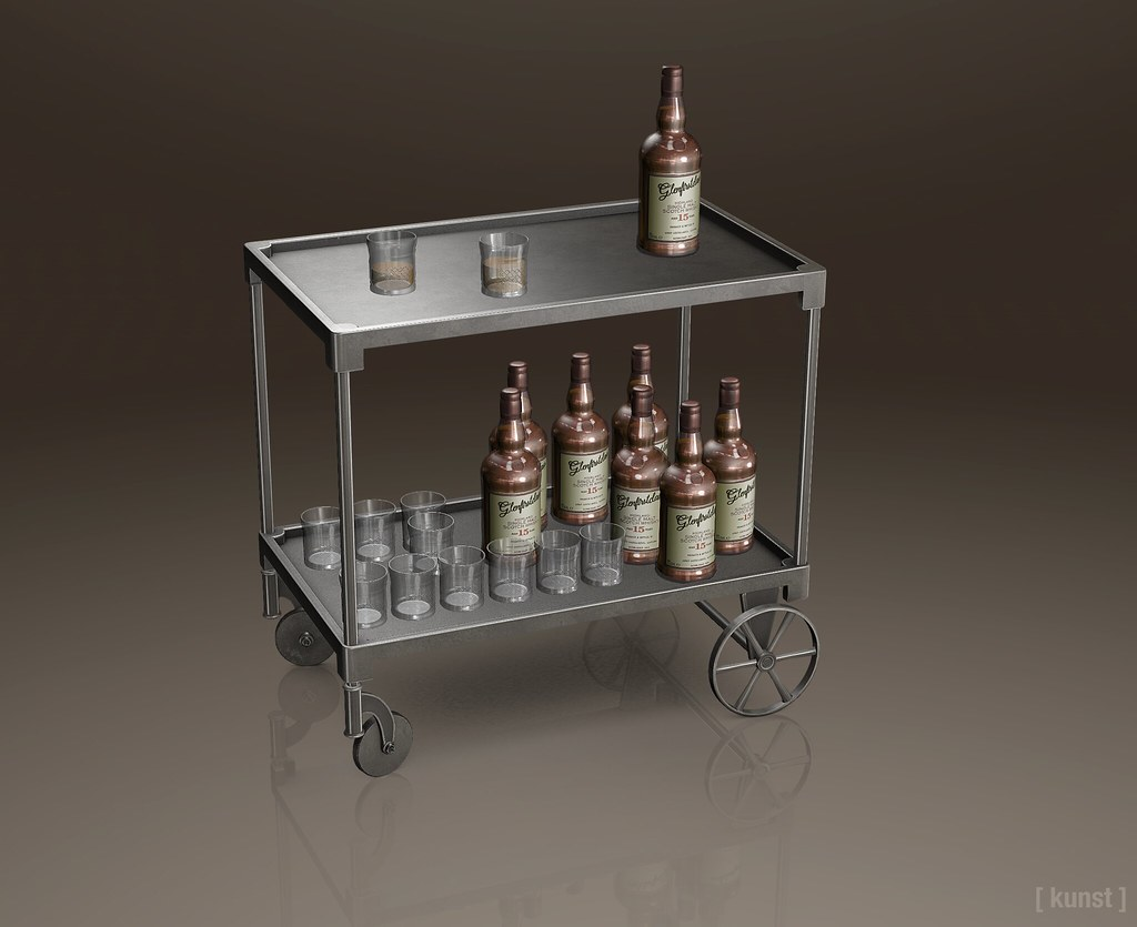 [ kunst ] - Bar cart & Glenfirstclass Scotch - TeleportHub.com Live!