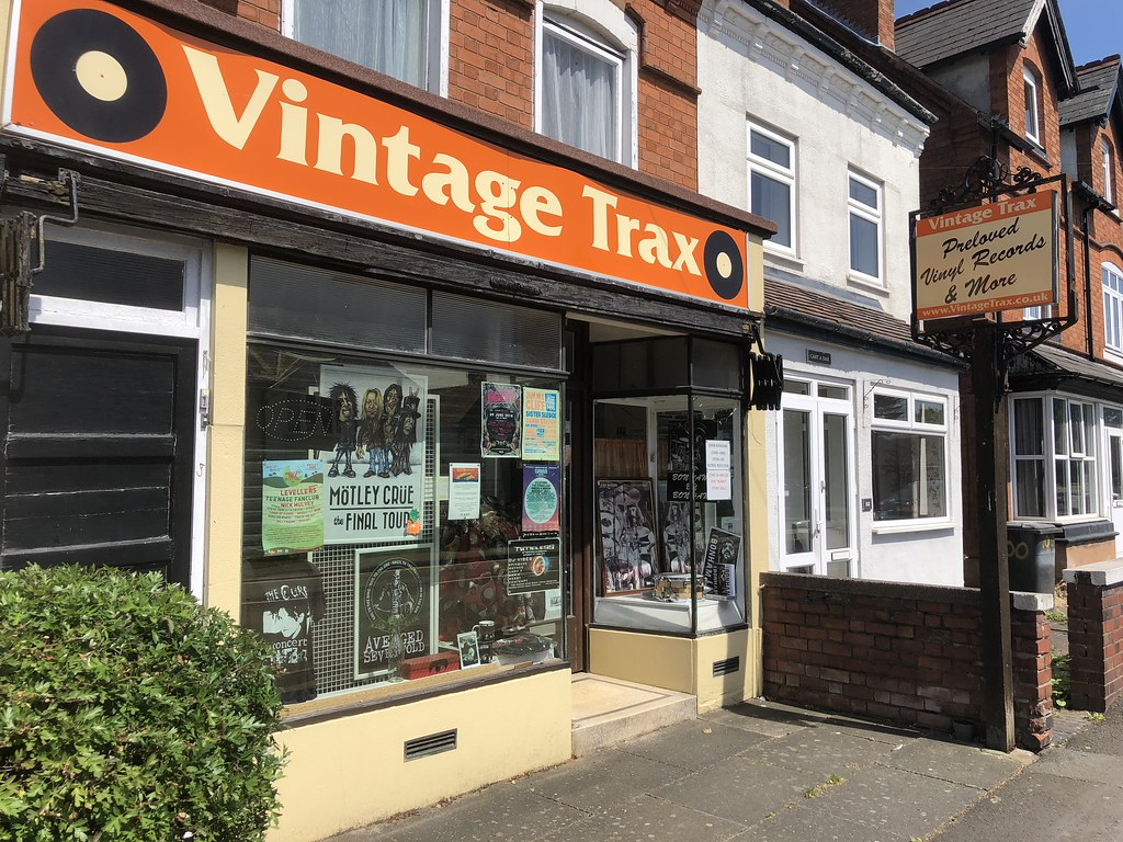 Vintage Trax records on Birchfield Road, Headless Cross, Redditch