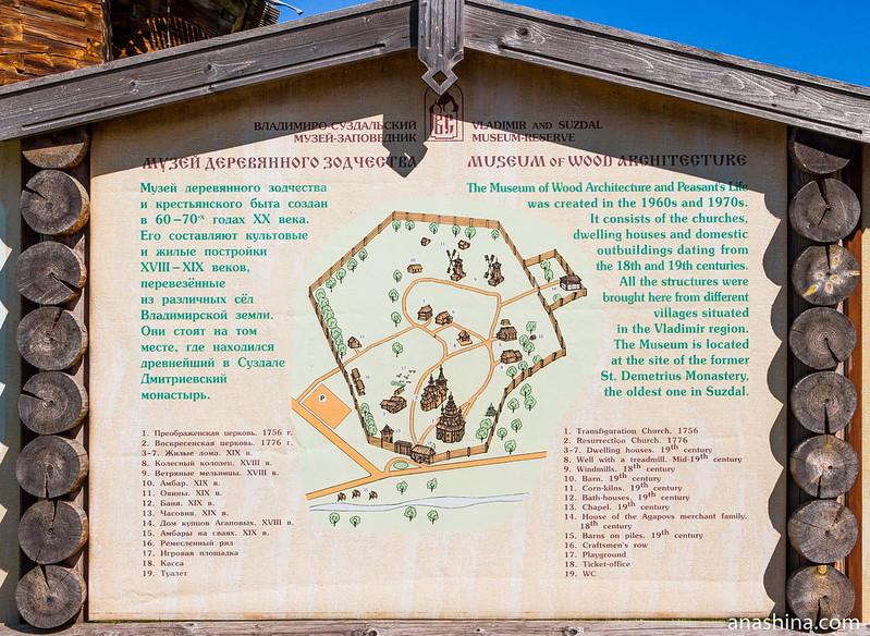 Схема расположения построек Суздальского музея деревянного зодчества