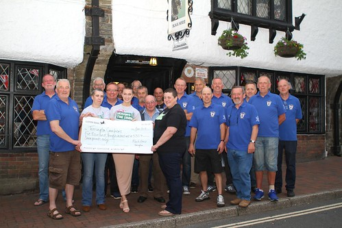 Brave the Shave present their cheques