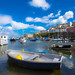 Harbour boats and clouds