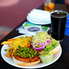 High Desert Brewing green chile veggie burger
