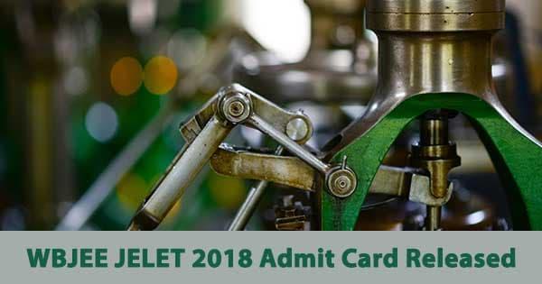 jelet admit card 2018