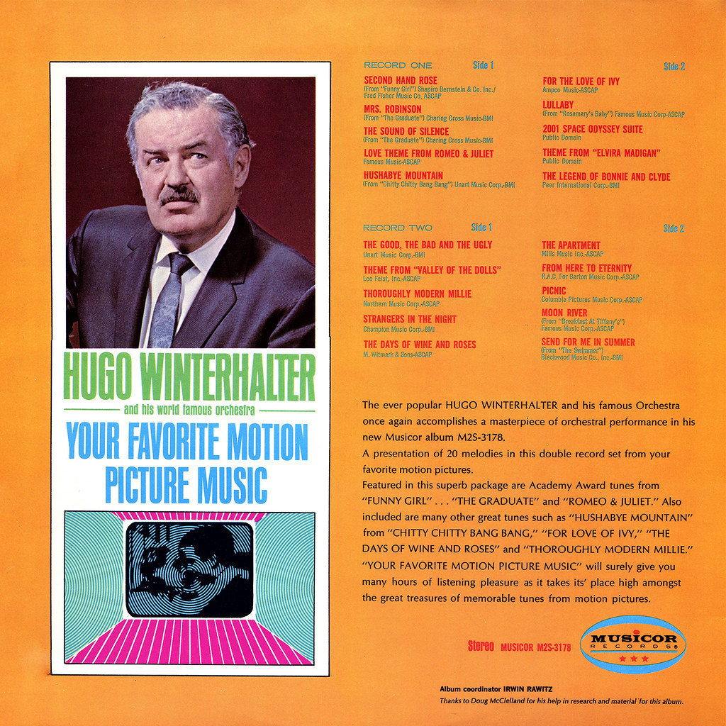 Hugo Winterhalter - Your Favorite Motion Picture Music