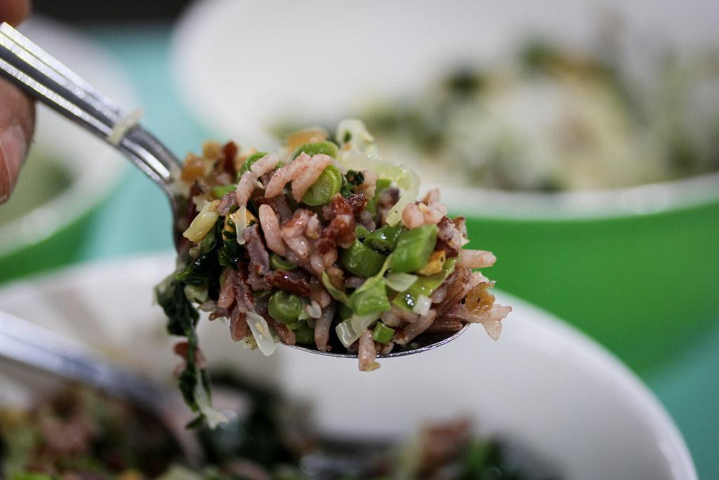Traditional Hakka Lui Cha Spoonful of Brown Rice