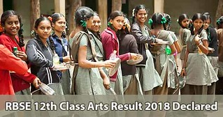 RBSE 12th Arts Result 2018 Declared