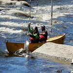 Rapid canoe training at the Ottawa River Runners` Pumphouse in Ottawa, Ontario
