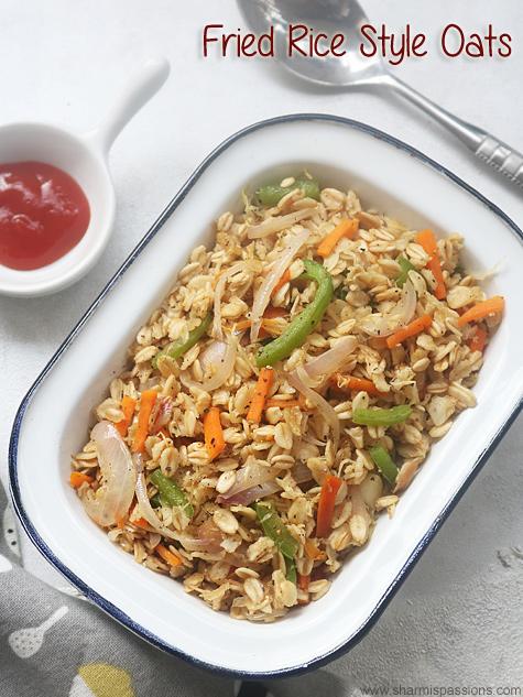 fried rice style oats recipe