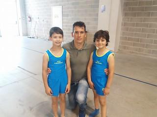 Gli atleti casamassimesi con Igor Cassina