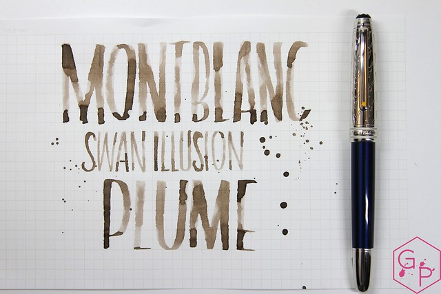 Montblanc Swan Illusion Plume Ink Review @AppelboomLaren @Montblanc_World 23