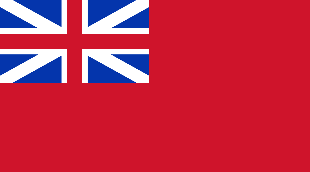 Red Ensign of Great Britain, used in Georgia Colony 1733-1776