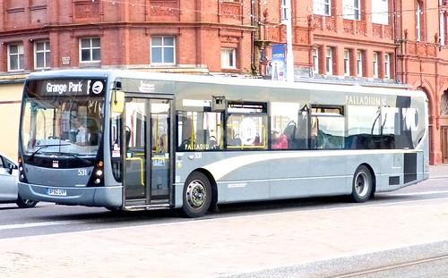 BF60 UVP 'Blackpool Transport' No. 531, 'Palladium'. Volvo B7RLE / Plaxton Centro on 'Dennis Basford's railsroadsrunways.blogspot.co.uk'