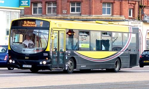 AU06 BOV 'Blackpool Transport' No. 520. Volvo B7RLE / Wright Eclipse Urban on 'Dennis Basford's railsroadsrunways.blogspot.co.uk' 70984