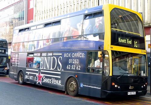 PJ03 TFU 'Blackpool Transport' No. 313, 'LEGENDS'. Dennis Trident 2 / East Lancs. Lolyne on 'Dennis Basford's railsroadsrunways.blogspot.co.uk'