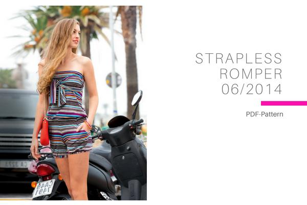 Strapless Romper