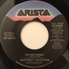 WHITNEY HOUSTON:SO EMOTIONAL(LABEL SIDE-A)
