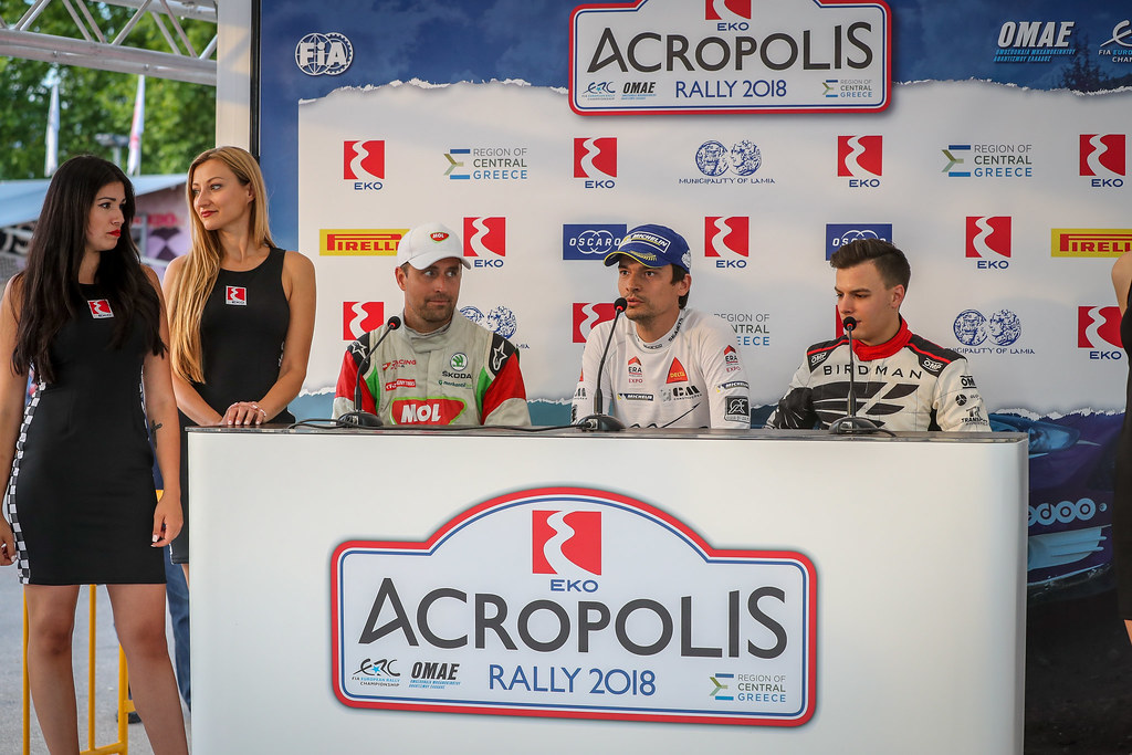 MAGALHAES Bruno (prt), SKODA FABIA R5, portrait HERCZIG Norbert (hun), SKODA FABIA R5, portrait PTASZEK Hubert (pol), Skoda Fabia R5, portrait during the European Rally Championship 2018 - Acropolis Rally Of Grece, June 1 to 3 at Lamia - Photo Alexandre Guillaumot / DPPI