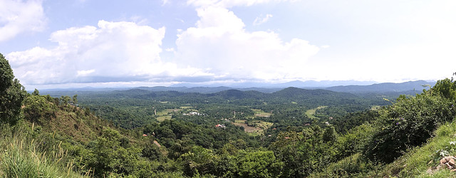 Lush green Western Ghats view