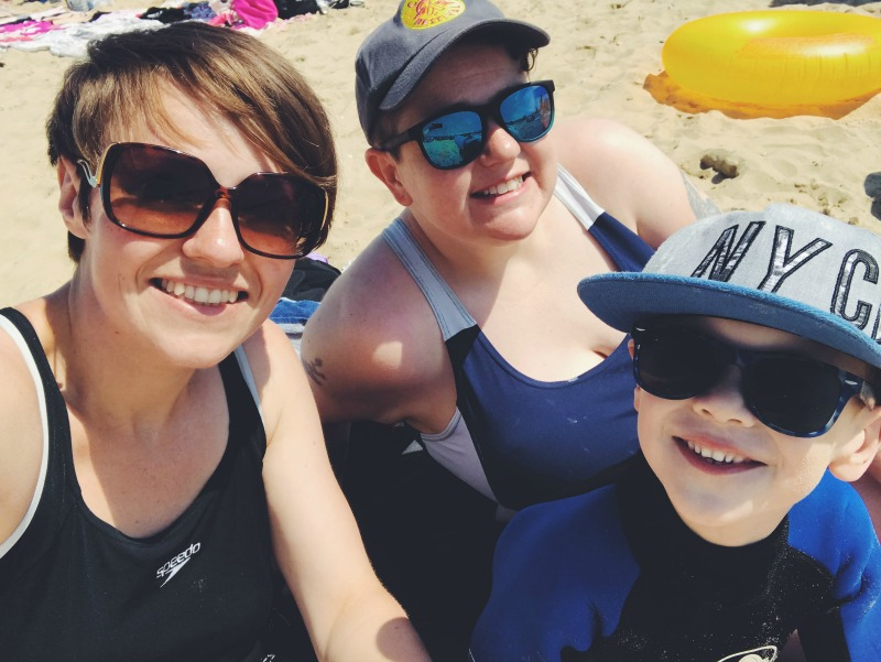 Family beach smiles