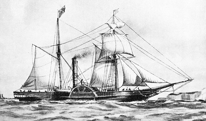 Irish cross-Channel packet Royal William, built in 1837.