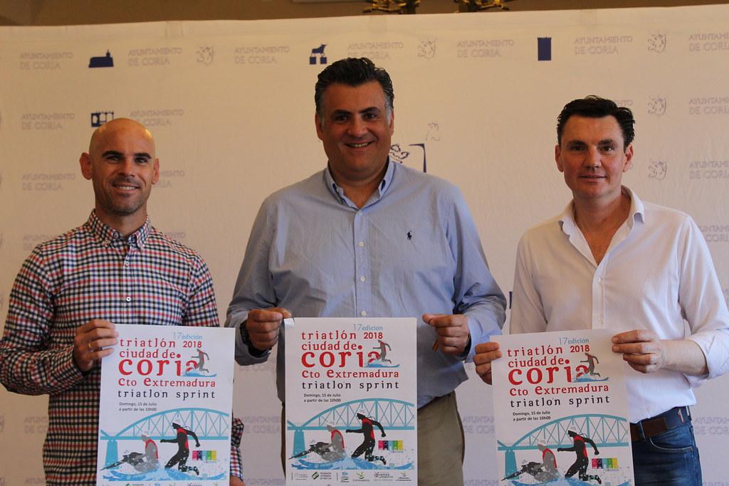"""El XVII Triatlón """"Ciudad de Coria"""" y el Campeonato de Extremadura de Triatlón Sprint se celebrará el 15 de julio"""