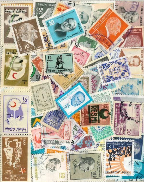Známky 51 ks rôznych, Turecko