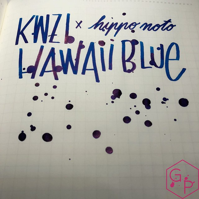 KWZ Ink Hawaii Blue Ink Review 18