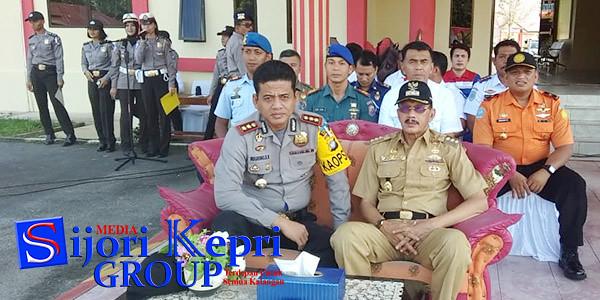 Bupati Natuna, Hamid Rizal bersama Jajaran Pasukan Operasi Ketupat Seligi 2018 Kabupaten Natuna