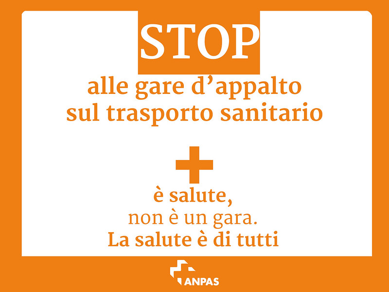Stop alle gare d'appalto sul trasporto sanitario
