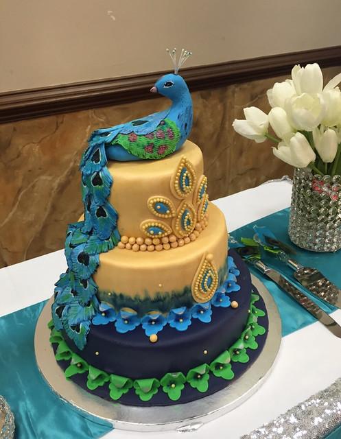 Peacock Theme Cake by Manasa Goud Badagowni