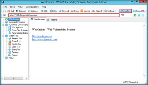 Using WebCruiser Tool for SQL Injection Testing – Final Project