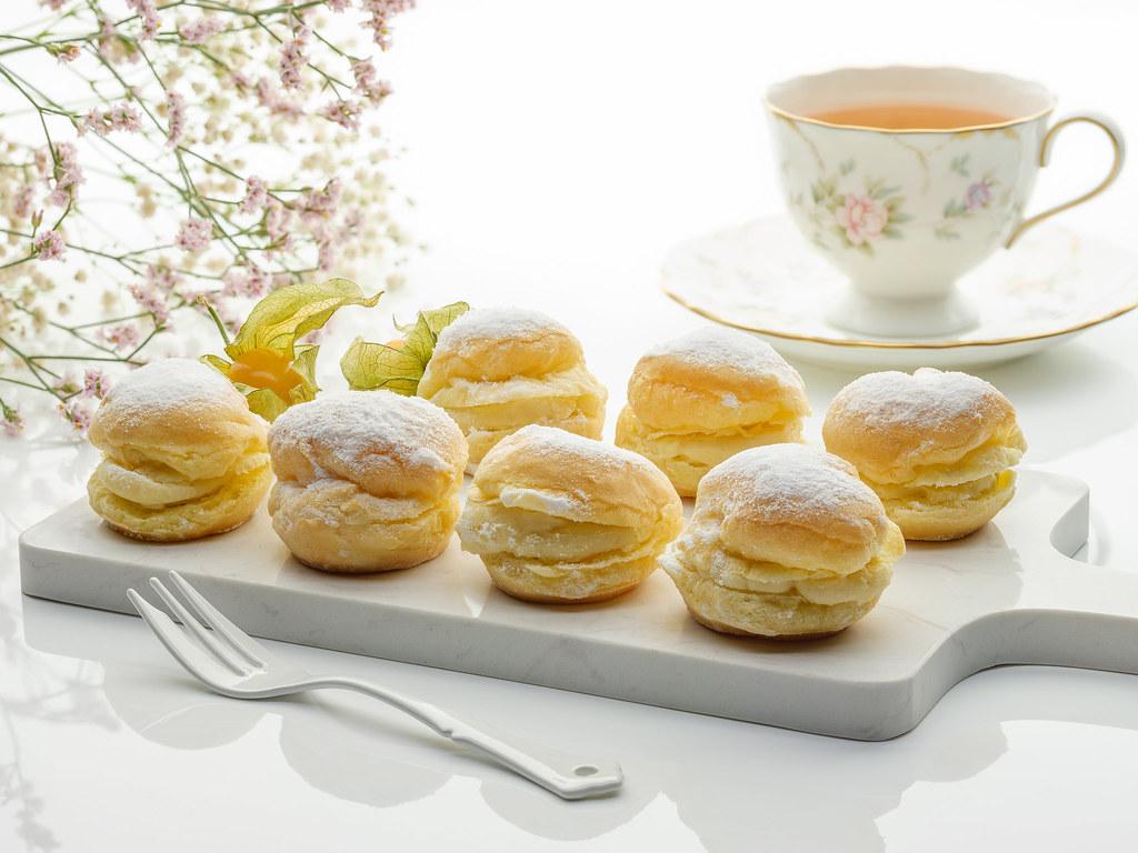 榴莲高级茶自助餐万豪咖啡屋榴莲奶油泡芙